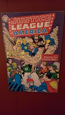 """DC Comics Justice League of America Wood Wall Plaque 19""""x13"""" May No 4 preowned"""