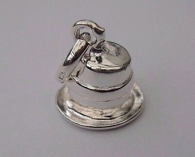 London Silver 925 Wedding Top Hat Charm attaches to links of your Bracelet