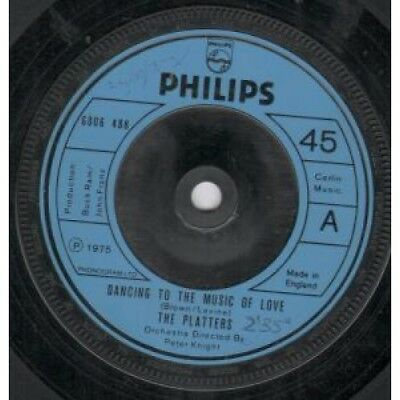 "PLATTERS Dancing To The Music Of Love 7"" VINYL UK Philips 1975 B/W Full /EX"