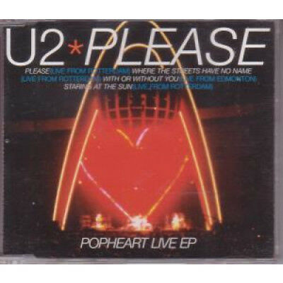 U2 Please CD UK Island 1997 4 Track Live From Rotterdam Popheart Live EP