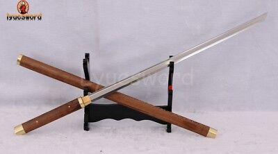 High Carbon Steel Blade Full Handmade Shirasaya Japanese Samurai Sword Practice