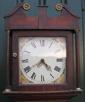 Oak Grandfather Clock by Cornelius Court of Warwick, Delivery Possible