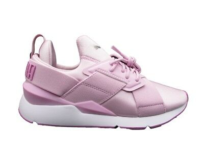 3ce5e63b654d PUMA MUSE SATIN Ii Wn s Sneakers Burgundy White 368427-01 - £33.00 ...