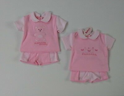 Premature tiny baby girls clothes two piece set 3-5 lbs 5-8 lbs