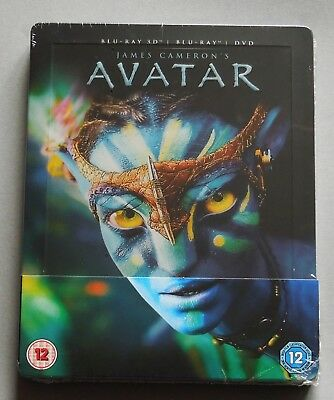 Avatar - Uk Zavvi Exclusive 3D + 2D Blu-Ray Disc Steelbook * New & Sealed