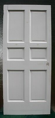 """2 available 34""""x83""""x1.75"""" RARE Antique Vintage SOLID Wood Wooden Door 6 Panels"""