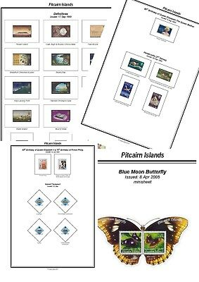 Print your own Pitcairn Islands Stamp Album, fully illustrated and annotated