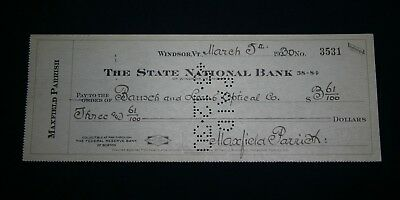 Genuine Maxfield Parrish Signed Banknote Check, March 5, 1930 to Bausch & Lomb