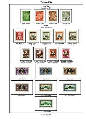 Print your own Vatican Stamp Album, fully illustrated and annotated