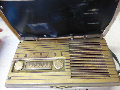 1948 Emerson Model #558 Portable Radio B Battery parts or repair