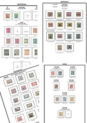 Print your own North Borneo Island Stamp Album, fully illustrated and annotated