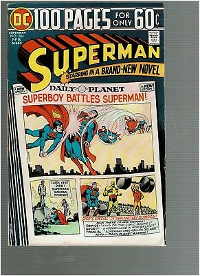Superman 284 Superboy vs Superman 100 pgs F+
