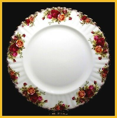 Royal Albert Old Country Roses 10 1/4 Inch Dinner Plates - 1st Quality New Condi