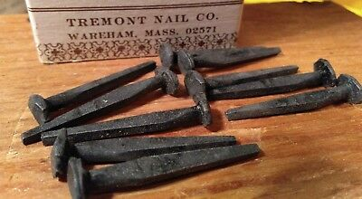 """1 1/2"""" Rose head 4d nails antique square wrought iron (10 individual nails)"""