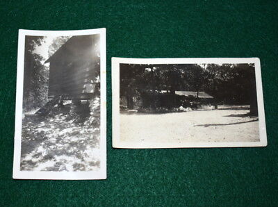 Vintage Boy Scout  Two 1935 Camp Photographs - Camp Garland - Identified