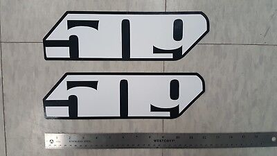 509 SNOWMOBILE LOGO STICKERS / DECALS  -  2 SLASH LOGO DECALS- Approx. 12 Inches
