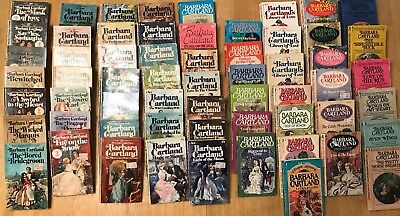 Lot of 60 Barbara Cartland PAPERBACK Vintage Romance Books