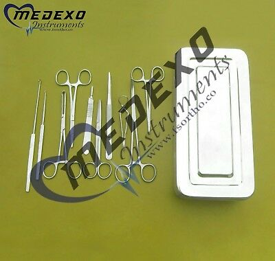 Spay Kit Veterinary Surgical Instruments High Quality Stainless Steel 19 Pieces
