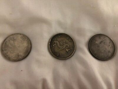 Rare Vintage Chinese Commerative Coins-Set Of 3