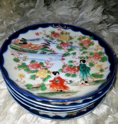 Vintage Japanese dessert(?) Dishes set of 5 ~ OFFERS WELCOME!