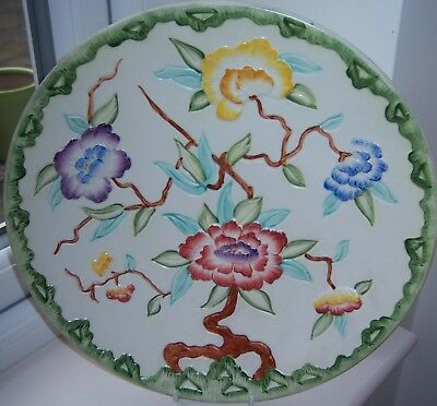 Antique H J Wood Chinese Rose Large Charger Plate
