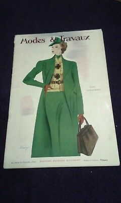 Full French Fashion Magazine - Modes et Travaus 1st February 1938