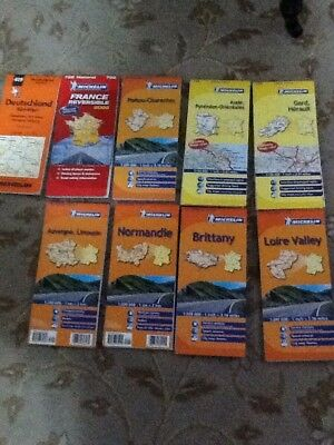 Michelin French Maps X8 And Germany X1: 522 513 512 517 339 344 521 722 419