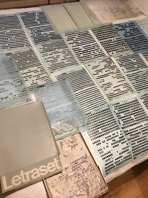 Massive Job Lot Box Of Letraset 29 Large Sheets Black And White Typography