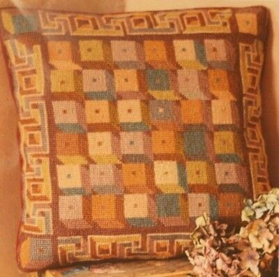 EHRMAN Kaffe Fassett DUSTY ROMAN BLOCKS tapestry NEEDLEPOINT KIT RARE RETIRED