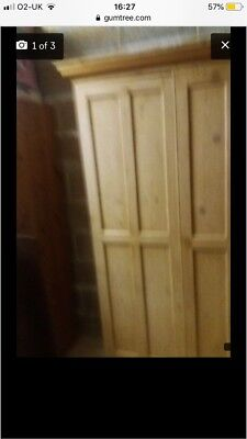 Victorian Pine Wardrobe Antique