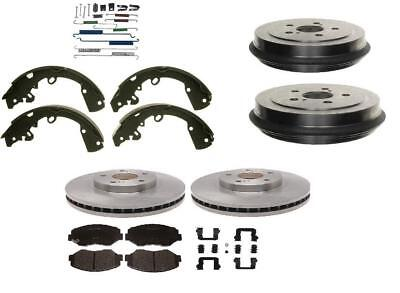 Ford Escape 01-07 TRIBUTE  & MARINER  Ceramic Pads Rotor Drum Shoes Spring Kit