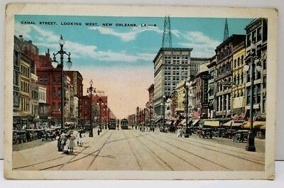 New Orleans, Canal Street Looking West Postcard D9