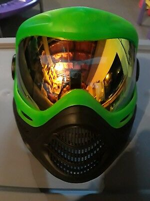 Dye Precision Axis Pro Paintball Goggle Mask, with thermal lens, lime green