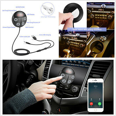 Wireless Handsfree Bluetooth FM Transmitter Car MP3 Player AUX Jack USB Charger