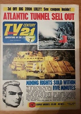 TV century 21 comic universe edition 75 VG stingray/thunderbirds/ fireball xl5