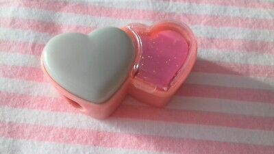 Taille Crayon Gomme Eraser Double Coeur Vintage 80s