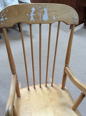 Vintage Oak Hill Co. Children's Rocking Chair  Made in Fitchburg MA.