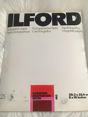 ILFORD 8X10 Glossy Sheet Photo Paper MG1M Ilfospeed Multigrade 25 sheets