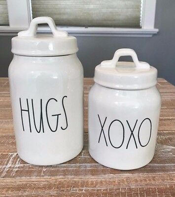 New! Rae Dunn Hugs And Xoxo Valentines Day Canister Set 2019 *htf*