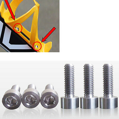 10 X Bike Bicycles Water Bottle Cage Bolts M5 Stainless Steel Threaded Screws