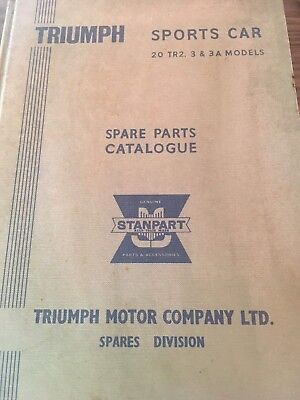 Triumph Sports Car 20 TR2. 3 & 3 A Models Spare Parts Catalogue