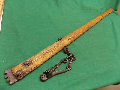 Vintage Durbin Durco St Louis MO fence barbed wire stretcher wood handle