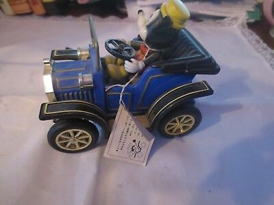 Disney Mickey Mouse Vintage Car w Mickey Made in Japan