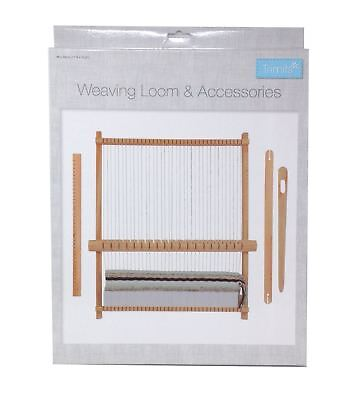 Weaving Loom Accessories Set Wooden Sewing Craft Hobby Kit