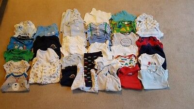 Huge Baby Boy 0-3 Month Clothes Bundle- Mix Of Trousers, Sleepsuits, Vests