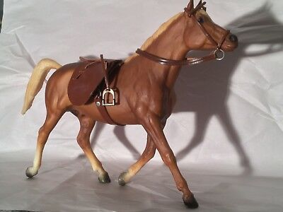 Vintage 70s Horse by Breyer with Leather Saddle