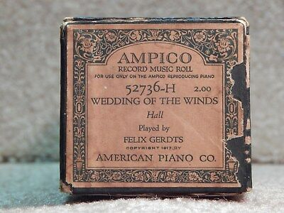 AMPICO  Piano Roll WEDDING OF THE WINDS 52736-H Played by Felix Gerdts