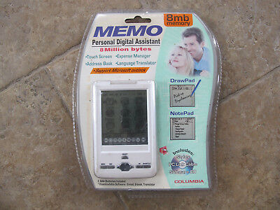WOW NEW Columbia 8 MB Touch Screen PDA Personal Digital Assistant