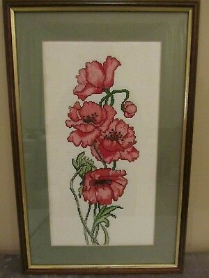 #27 Poppies Cross Stitch Picture