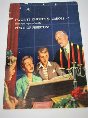 Favorite Christmas Carols Voice of Firestone Song Book Vintage 1955 USA